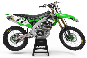 kawasaki green motocross decals wlm design