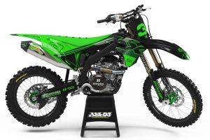 kawasaki graphics green black
